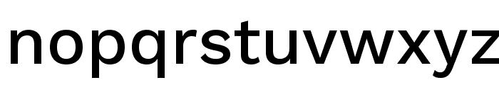 Work Sans Medium Font LOWERCASE