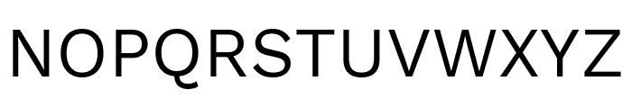 Work Sans Regular Font UPPERCASE