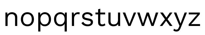 Work Sans Regular Font LOWERCASE