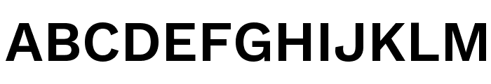 Work Sans SemiBold Font UPPERCASE
