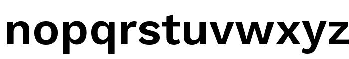 Work Sans SemiBold Font LOWERCASE