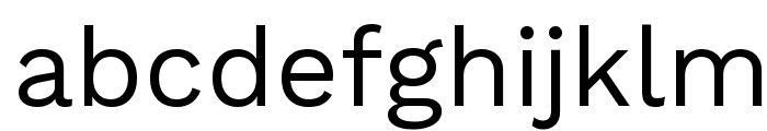 Work Sans Font LOWERCASE
