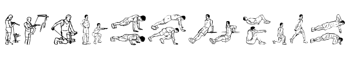 Workout Routine Font OTHER CHARS