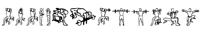 Workout Routine Font UPPERCASE