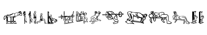 Workout Routine Font LOWERCASE