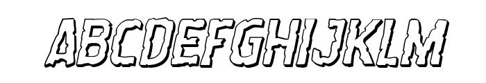 Worm Cuisine 3D Italic Font LOWERCASE
