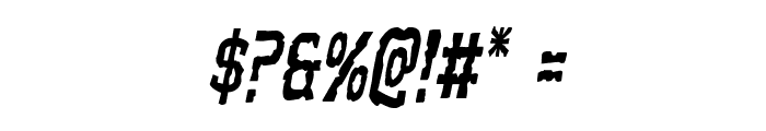 Worm Cuisine Condensed Italic Font OTHER CHARS