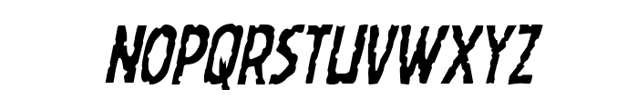 Worm Cuisine Condensed Italic Font UPPERCASE