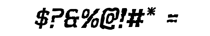 Worm Cuisine Expanded Italic Font OTHER CHARS