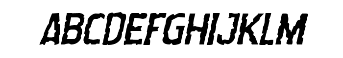 Worm Cuisine Italic Font UPPERCASE
