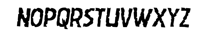 Worm Cuisine Leaning Font LOWERCASE