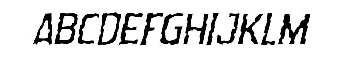 Worm Cuisine Light Italic Font UPPERCASE