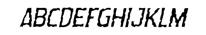 Worm Cuisine Light Italic Font LOWERCASE