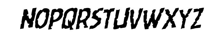 Worm Cuisine Rotalic Font LOWERCASE
