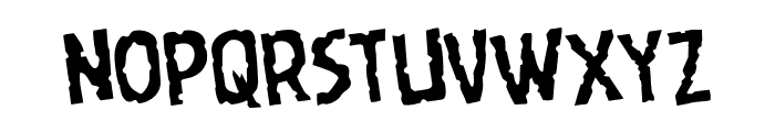 Worm Cuisine Rotated Font LOWERCASE