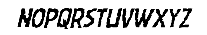 Worm Cuisine Staggered Italic Font LOWERCASE