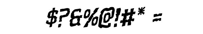 Worm Cuisine Staggered Rotalic Font OTHER CHARS
