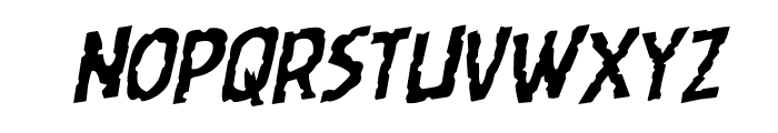 Worm Cuisine Staggered Rotalic Font UPPERCASE