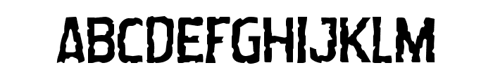 Worm Cuisine Staggered Font UPPERCASE