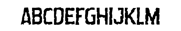Worm Cuisine Staggered Font LOWERCASE