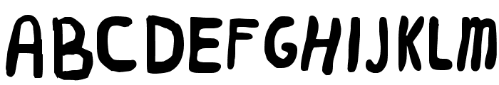 Worm Font UPPERCASE
