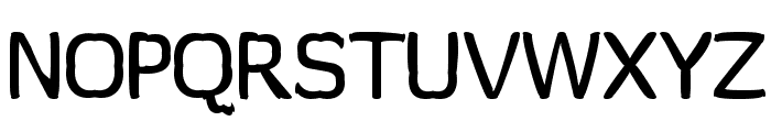 Wormfont Font UPPERCASE