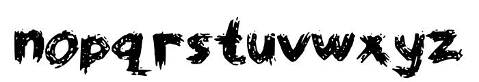 WorstPaintJobEver Font LOWERCASE