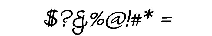 Worstveld Sling Bold Oblique Font OTHER CHARS