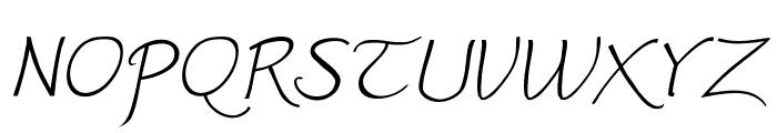 Worstveld Sling Extra Oblique Font UPPERCASE