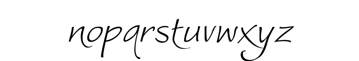 Worstveld Sling Extra Oblique Font LOWERCASE