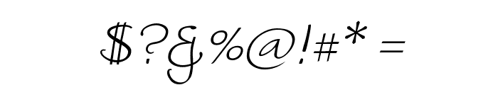 WorstveldSlingExtra2Oblique Font OTHER CHARS