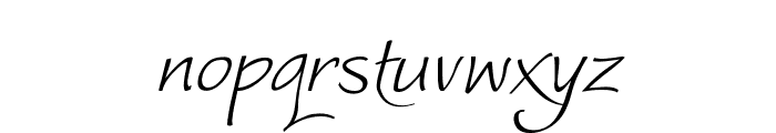 WorstveldSlingExtra2Oblique Font LOWERCASE