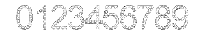 Woven Brick outline Font OTHER CHARS