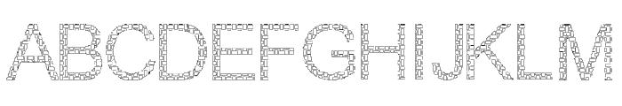 Woven Brick outline Font UPPERCASE