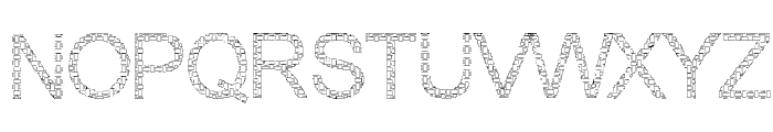 Woven Brick outline Font UPPERCASE