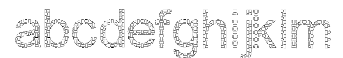 Woven Brick outline Font LOWERCASE