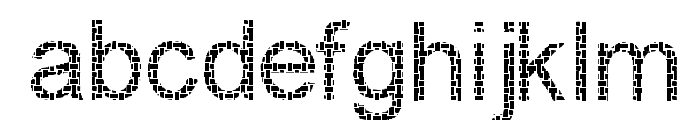 Woven Brickwork Font LOWERCASE
