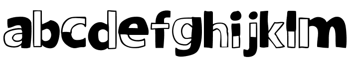 woodcutter DELICADA Font LOWERCASE