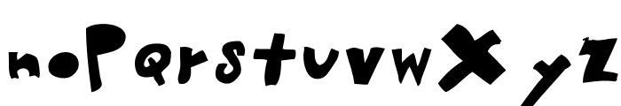 woodcutter MMXII Font LOWERCASE