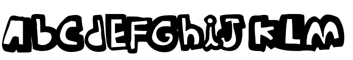 woodcutter Summer Shadows Font LOWERCASE