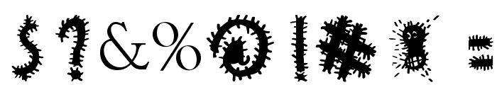 woodcutter VIRUS Font OTHER CHARS