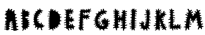 woodcutter VIRUS Font UPPERCASE