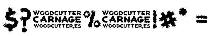 woodcutter carnage Font OTHER CHARS
