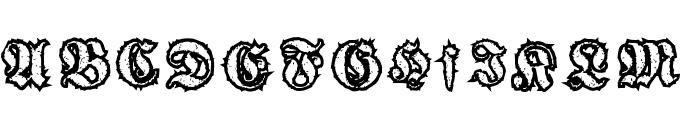 woodcutter gothic drama Font UPPERCASE