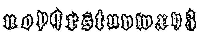 woodcutter gothic drama Font LOWERCASE