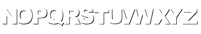 woodcutter invisible Font UPPERCASE