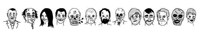 woodcutter people faces Font UPPERCASE