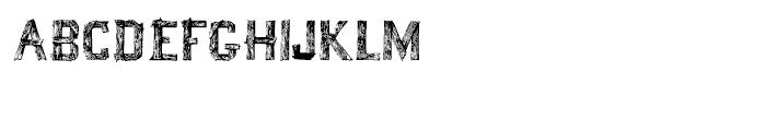 Wood Font Five Font LOWERCASE