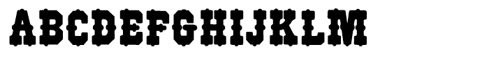Wood Type 515 Regular Font UPPERCASE