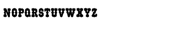 Wood Type 515 Regular Font LOWERCASE